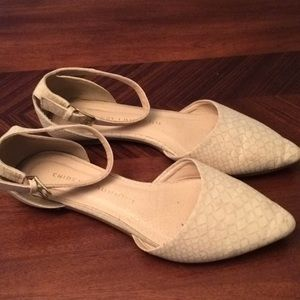 Chinese Laundry Pointy Toe Flats With Ankle Strap